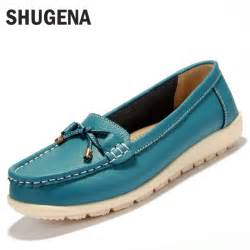 womens flat leather boots canada aliexpress com buy 2016 summer genuine leather flats shoes casual flat
