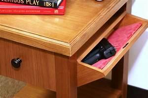 Bullet-proof furniture conceals a gun safe Woodworking