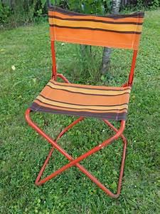 Chaise Pliante De Camping Vintage
