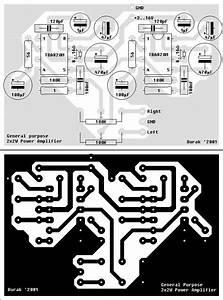 Tba820m Amplifier Circuit Stereo 2 Watts