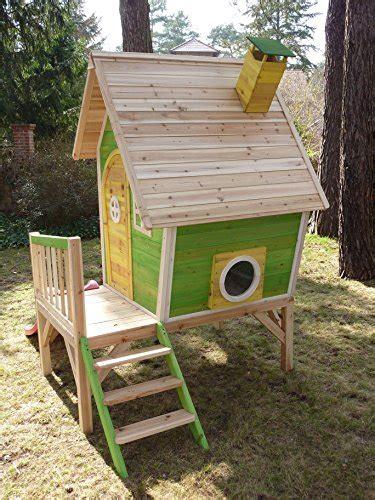 kinderspielhaus mit sandkasten kinderspielhaus stelzenhaus aus holz mit rutsche spielhaus kinder de