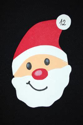 weihnachtsmann basteln vorlagen adventskalender basteln kinderspiele welt de
