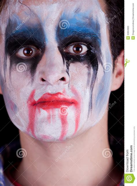 scary person  makeup stock  image