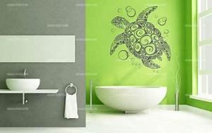 Stickers Salle De Bain Zen : stickers tortue de mer ~ Dode.kayakingforconservation.com Idées de Décoration