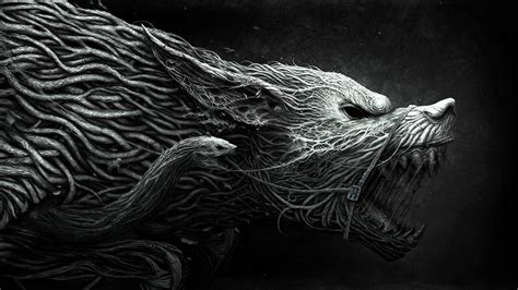 Fantasy Art, Wolf, Horror, Cgi, Roots Wallpapers Hd
