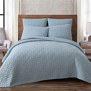 Buy brooklyn loom lincoln full queen mini quilt in indigo for Brooklyn loom bedding