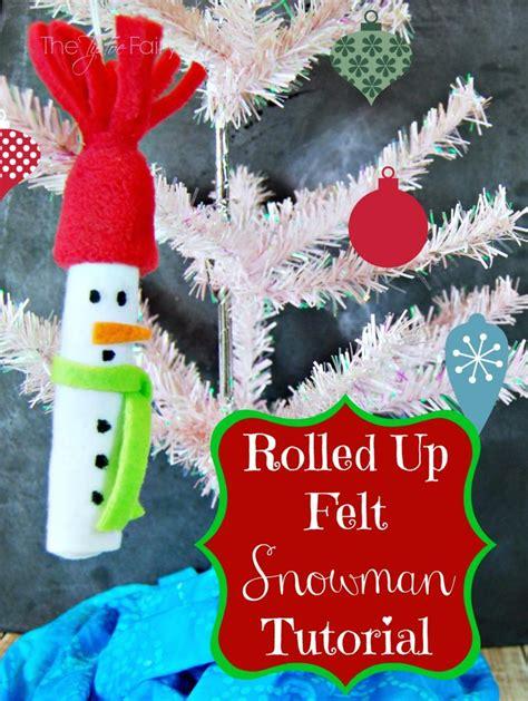 christmas in july easy felt snowman ornament the tiptoe