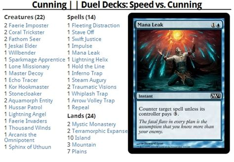 Mtgolibrary Duel Decks Speed Vs Cunning