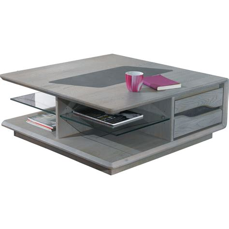 table basse carr 233 e grise meuble de salon style contemporain