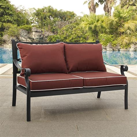 Metal Outdoor Loveseat by Metal Outdoor Sofa Metal Patio Furniture Pottery Barn