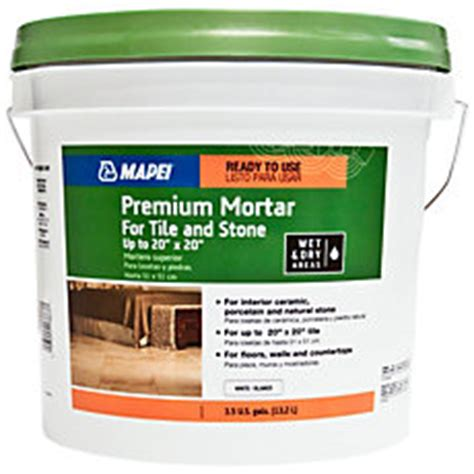 mapei premium premixed mortar for tile and stone 3 5gal