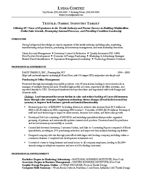 purchasing manager resume by nationally certified resume
