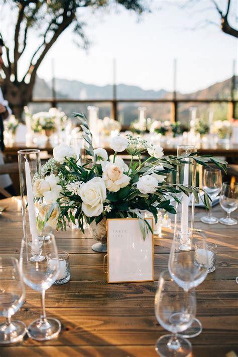 Rustic yet elegant simple centerpiece for wedding