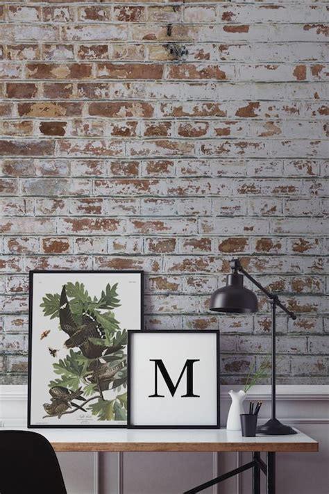 hallway wallpaper ideas   home exposed brick