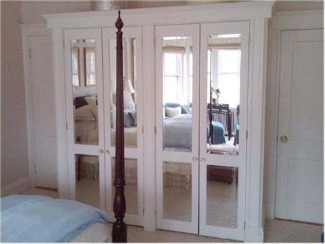 mirrored french closet doors  bedroom architecture