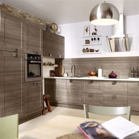 cuisine delinia aubergine meuble de cuisine décor chêne blanchi delinia karrey