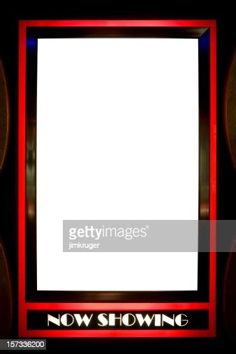showing blank poster frame  red outline high res