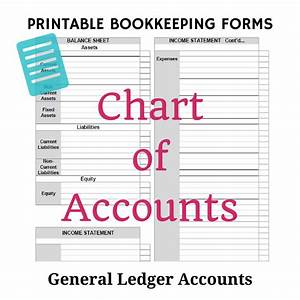 Free Bookkeeping Forms And Accounting Templates