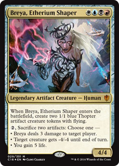 Magic The Gathering Premade Decks 2017 by Breya Etherium Shaper From Commander 2016 Spoiler