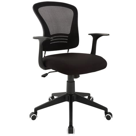 poise modern ergonomic mesh back office chair with lumbar support black