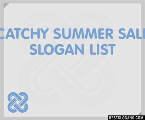 30+ Catchy Summer Sale Slogans List, Taglines, Phrases