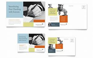 banking templates word publisher powerpoint With microsoft office postcard templates