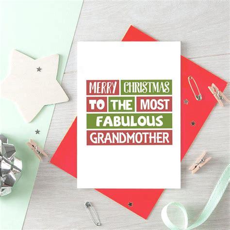 grandmother christmas card fabulous grandmother merry
