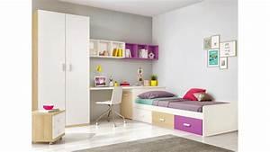 Lit Ado Design : chambre ado design multicolore avec lit 3 coffres glicerio so nuit ~ Teatrodelosmanantiales.com Idées de Décoration