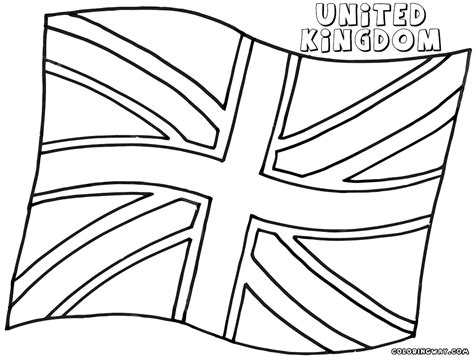 England Flag Coloring Page Pages Of