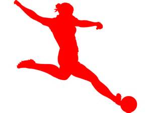 Female Soccer Player Silhouette