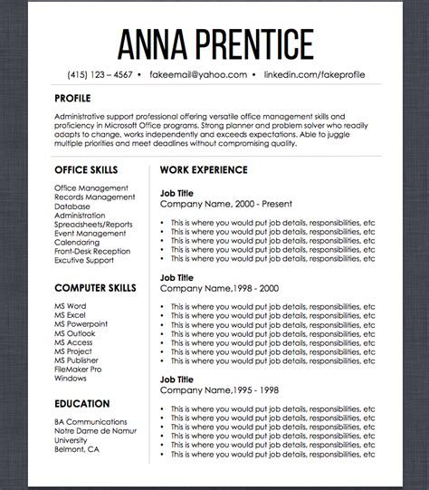 Set Resume Template by Resume Template Search Organizer Set Resume Design