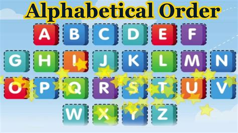 They are all now in alphabetical order. Put the Alphabet in Alphabetical Order, Alphabet Songs, 3D ...
