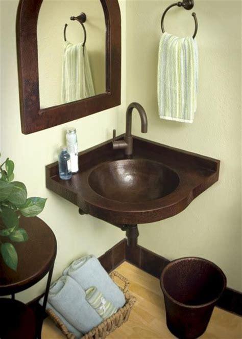Small Bathroom Corner Sink Ideas by Best 25 Copper Bathroom Sinks Ideas On
