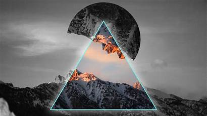 4k Geometric Mountains Wallpapers Neon 1080 1920