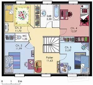 Plan Maison A Etage : maison tage 1 d tail du plan de maison tage 1 faire construire sa maison ~ Melissatoandfro.com Idées de Décoration