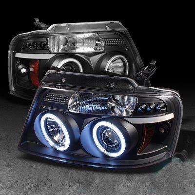 f150 halo lights ford f150 2004 2008 black dual ccfl halo projector