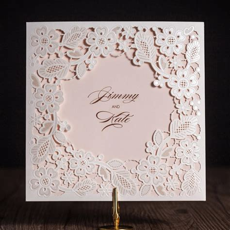 Wishmade 1pcs Laser Cut Wedding Invitations Card With