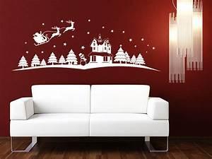 Bettwäsche Winterlandschaft Weihnachten : wandtattoo winterlandschaft mit schlitten ~ Sanjose-hotels-ca.com Haus und Dekorationen
