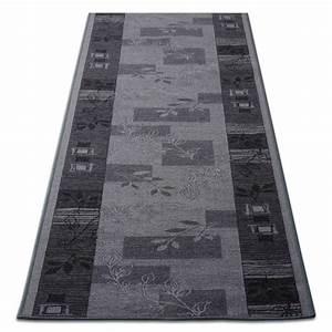 tapis de cuisine design gris avec motif 3 largeurs With tapis cuisine design