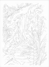 Paint Paradise Scenes Coloring Adult Tropical Additional Coloriage Bible Paysage Adulte Numbers Printable Jungle Forest Sheets Rain Inside Colorier sketch template