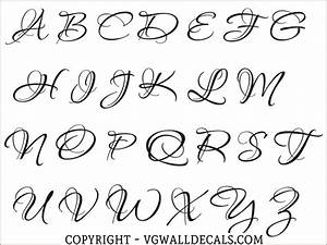 monogram wall decal single letter script style 2 With single letter monogram styles