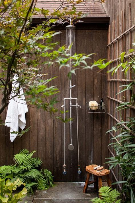 18 Tropical And Natural Outdoor Shower Ideas  Small House