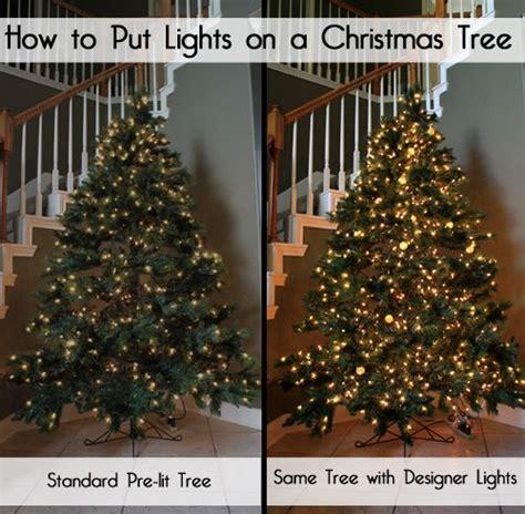 designer secrets    put lights   christmas tree