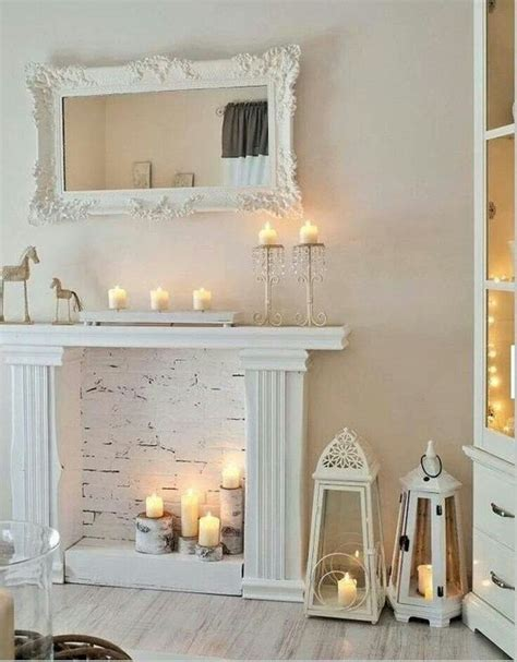 shabby wohnzimmer faux fireplace diy to try