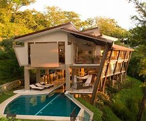 Unusual, Wooden, House, With, A, Complex, Arrangement, In, The