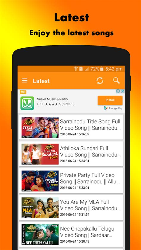 telugu hd video songs android apps  google play