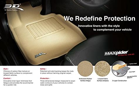 10 3d maxpider cargo custom fit all weather floor mat for select ford explorer models