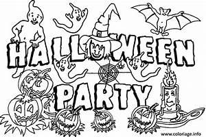 Citrouille Halloween Dessin : coloriage halloween party avec des citrouilles et des ~ Melissatoandfro.com Idées de Décoration