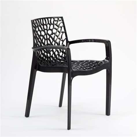 Sedie Per Interni Sedia Impilabile Con Braccioli In Plastica Lucida Per