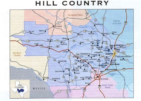 central texas hill country map pictures  pin